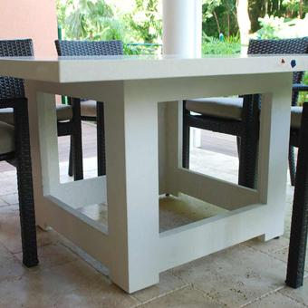 How to Make a Cube Table Base out of concrete