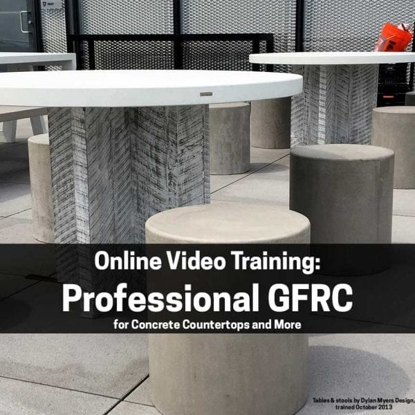 How to make GFRC Concrete Countertops online training