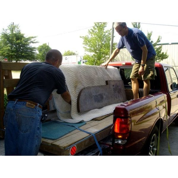 truck for installing concrete countertops