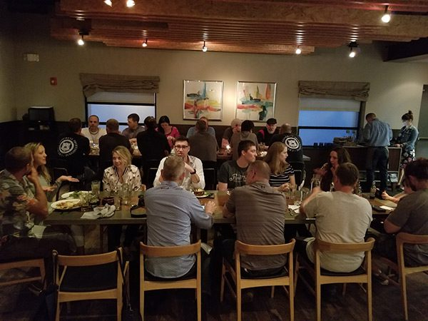 Concrete Countertop Institute students at dinner