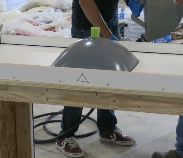 Form for concrete countertop with integral sink