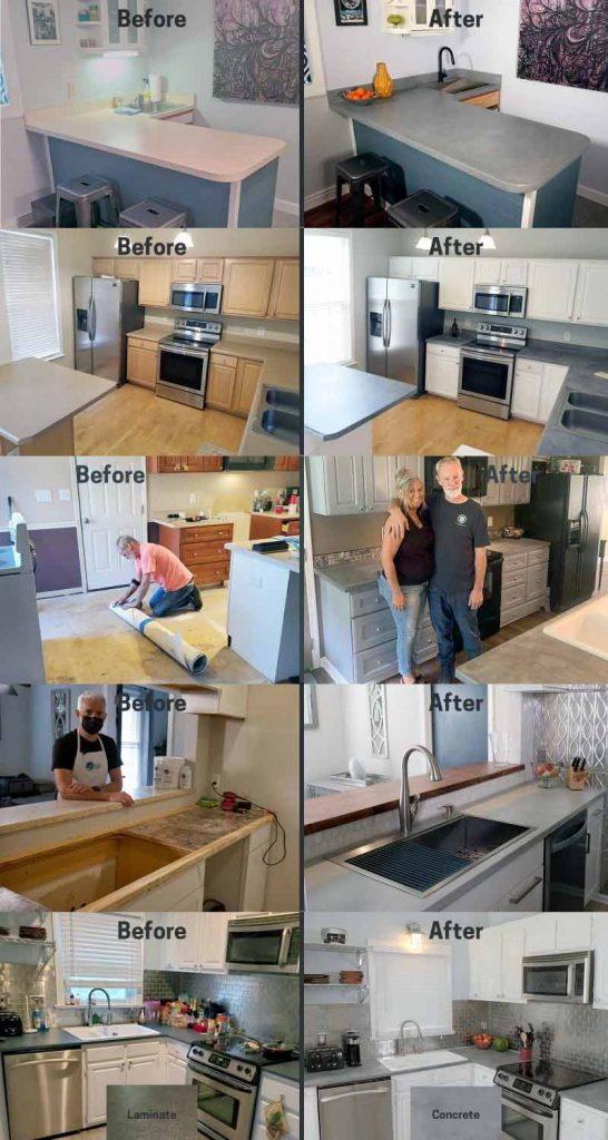 Finale DIY Concrete Countertop System projects collage